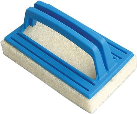 POOL HAND BRUSH 145mm WITH SCRUBBING PAD